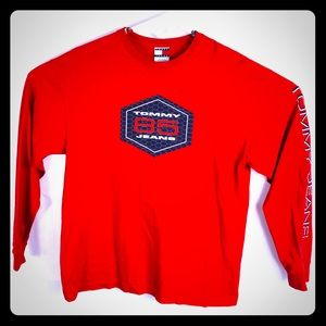 Men's tommy jeans Longsleeve size large red